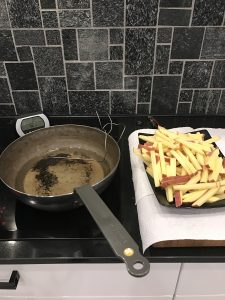 Ranskalaiset fish and chipsiin
